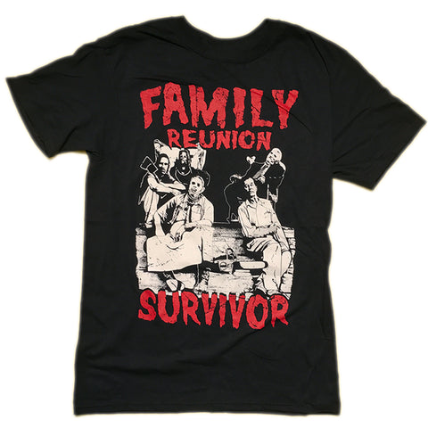 The Texas Chain Saw Massacre Family Reunion T Shirt Adult Unisex Sizes S to XL
