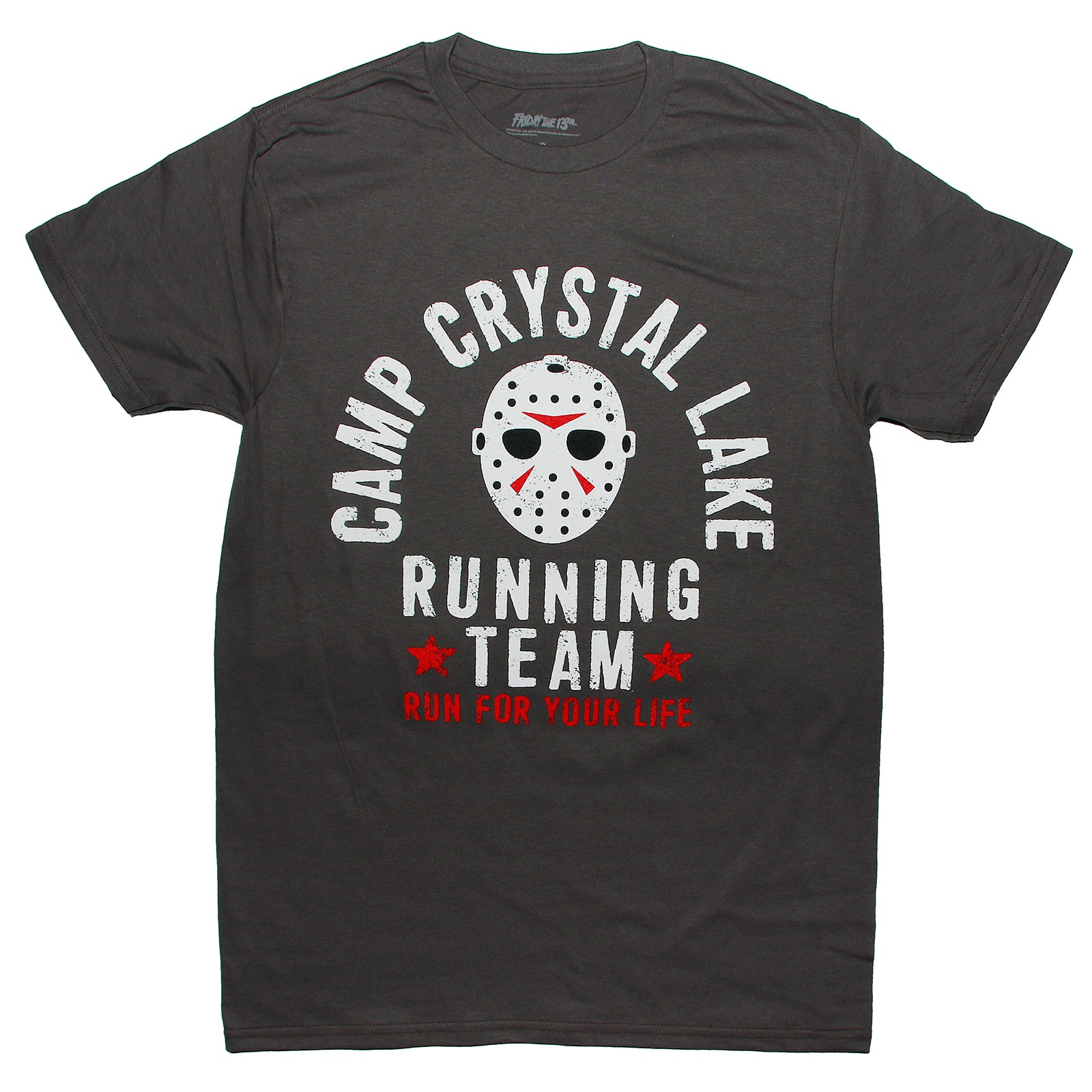 Friday the 13th Jason Voorhees CAMP CRYSTAL LAKE RUNNING TEAM T Shirt