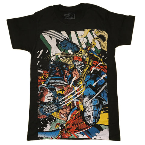 Marvel Comics X-Men Wolverine vs Omega Large Print Adult Unisex T-Shirt