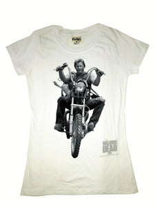 The Walking Dead Daryl Dixon Riding Ladies T-shirt sizes S to 3XL