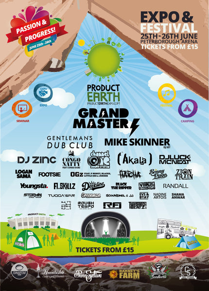 Product Earth 2016 line up music