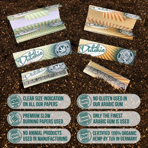 Dutchies hand rolling smoking papers - organic- unbleached premium