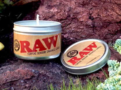 RAW Terpene sensory odour controll candle - by Raw rolling papers
