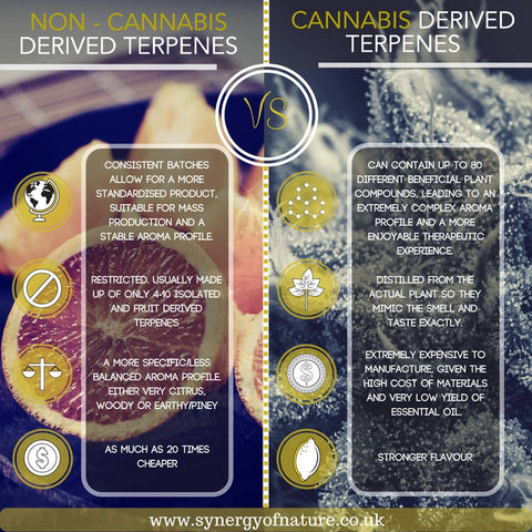 Blueberyy Cannabis Terpene profile uk vs non canna