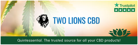 Two Lions CBD Oil UK Collection Banner