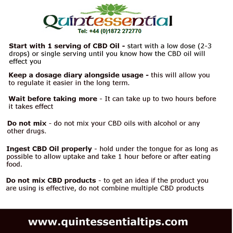 CBD Oil dosage guide 2019