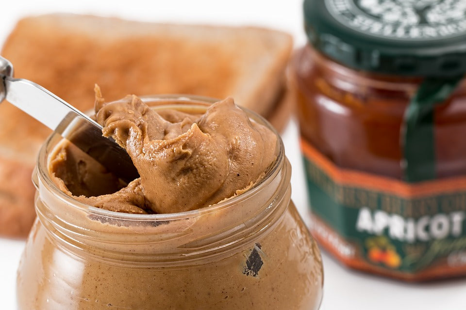Peanut butter is a great source of protein and fibre