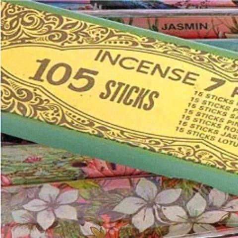 105 Incense Sticks 7 Scents With 15 Incense Sticks In Each scent
