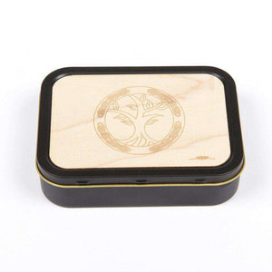 20z Tobacco Tins With Wooden Engraved Lids - Celtic Knot