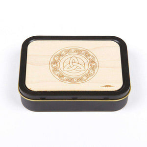 20z Tobacco Tins With Wooden Engraved Lids - Celtic Links