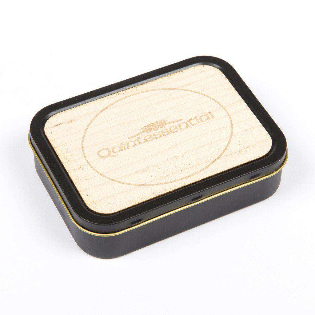 20z Tobacco Tins With Wooden Engraved Lids - Quintessential