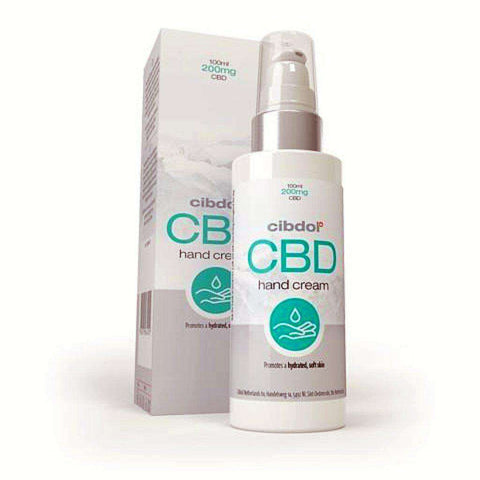 CBD Hand Cream by Cibdol with Allantoin and Helianthus Annuus to aid sore hands