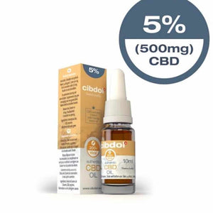 Cibdol UK authentic CBD Oil 5% (500mg) 10ml bottle