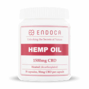 Endoca  15% Decarboxylated CBD Hemp Oil Capsules - 1500mg