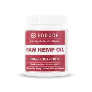 Endoca  CBD & CBDa Raw Hemp capsules- 1500mg
