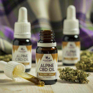 Holistic Hemp Alpine CBD Oil Drops 500mg Cannabidiol - 10ml