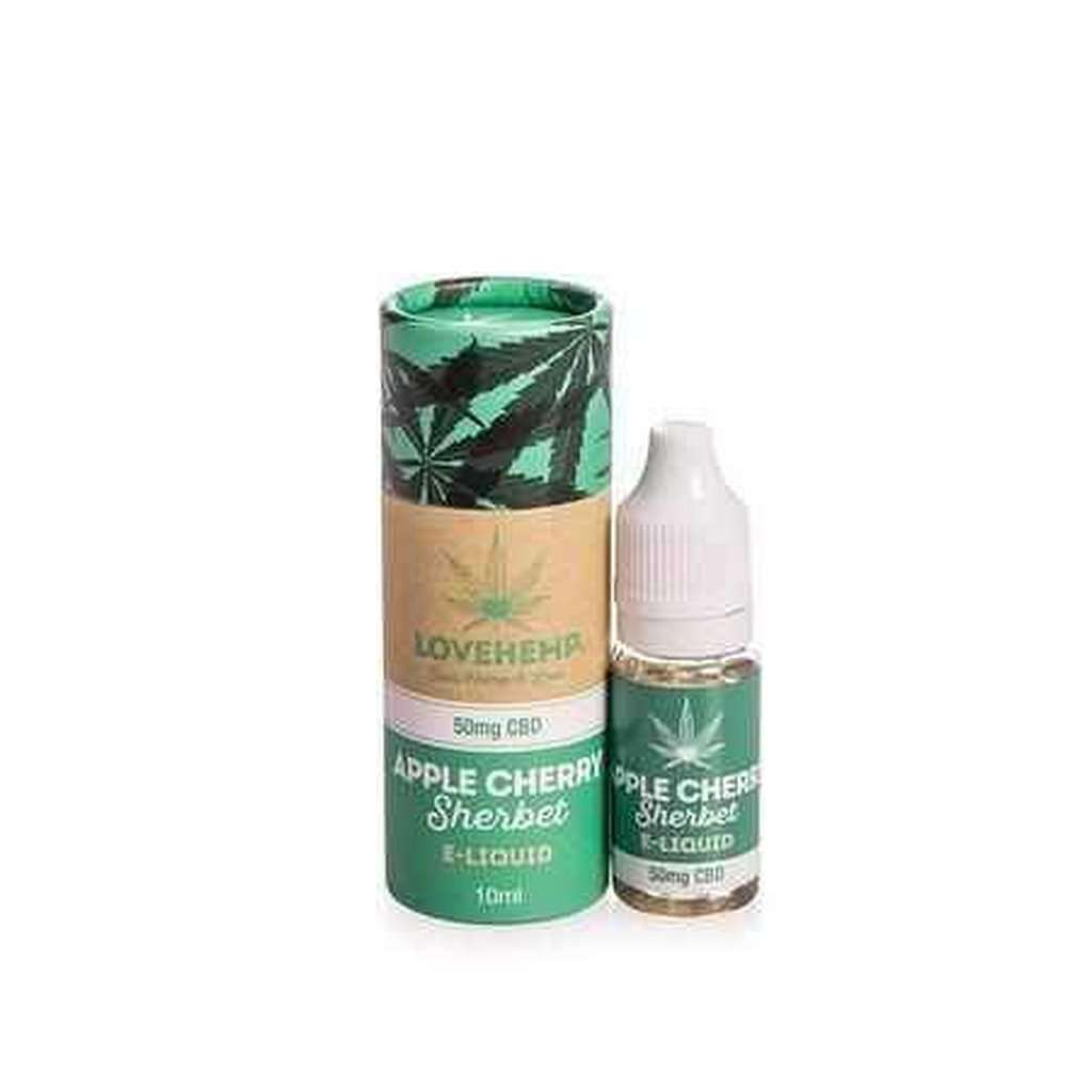 Love Hemp® CBD infused e-Liquid's 10ml Bottle - 50mg, 100mg & 300mg-Love Hemp-Quintessential Tips