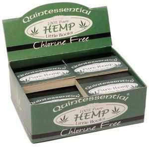 Quintessential Pure Hemp Little Books roach tips box