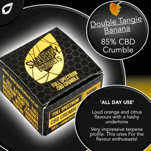 Double Tangie Banana CBD Crumble UK - Synergy Extracts