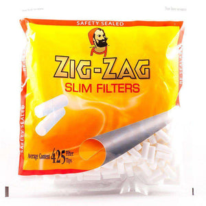 Zig Zag Slim filter tips in bags for hand made rolling cigarette smokers