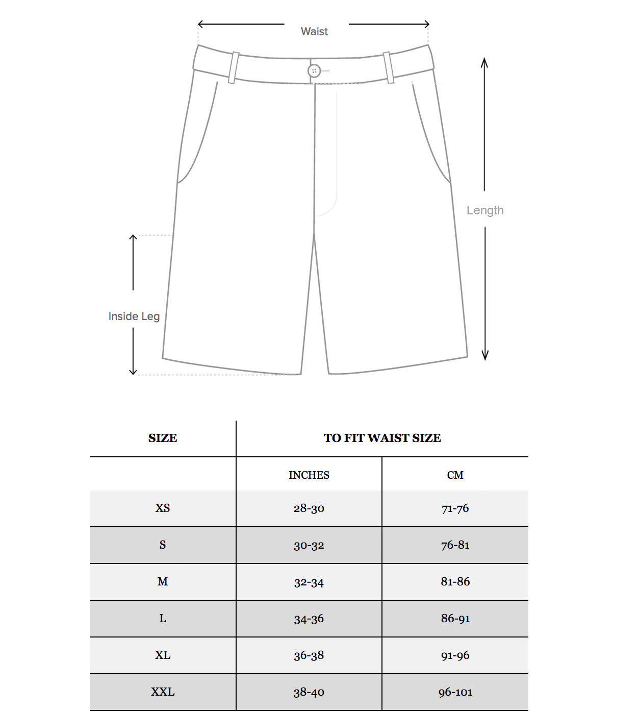 Sizing Guide Deadstock