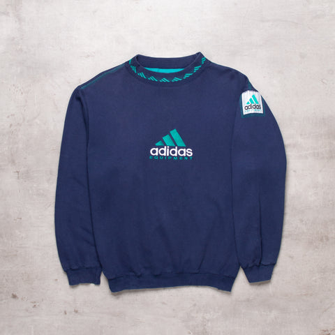90s Adidas Equipment Spell Out Sweat (S/M)