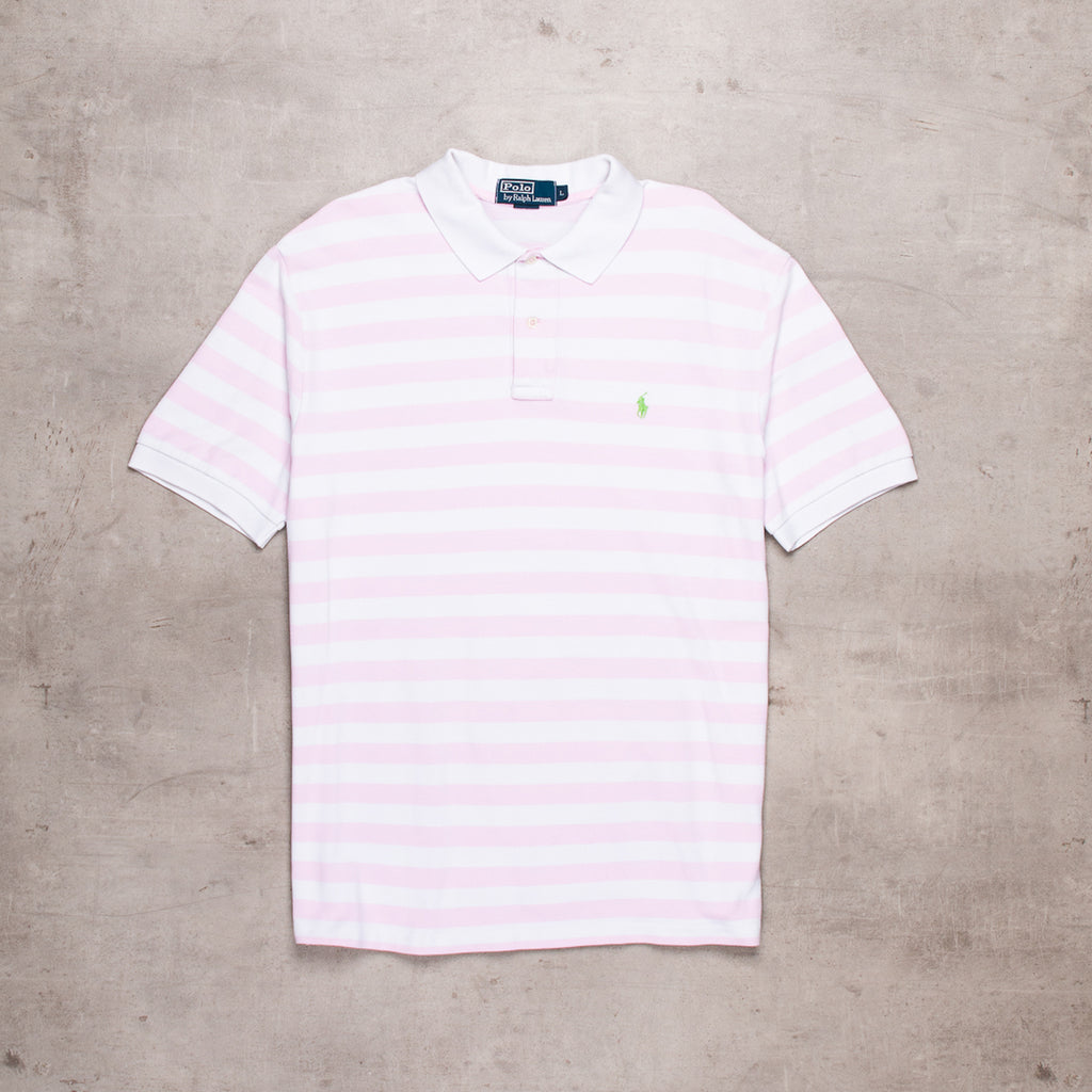 90s Ralph Lauren Striped Polo (L)