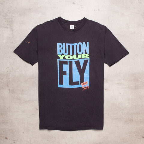 90s Levis Button Your Fly Tee (XL)