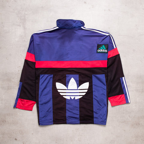 90s Adidas Spell Out Track Top (L)