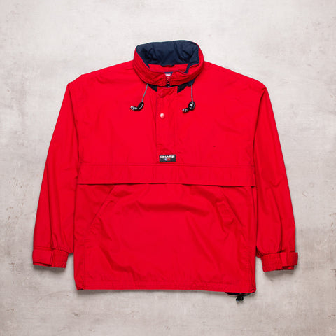 90s Ralph Lauren Red Pull Over (S)