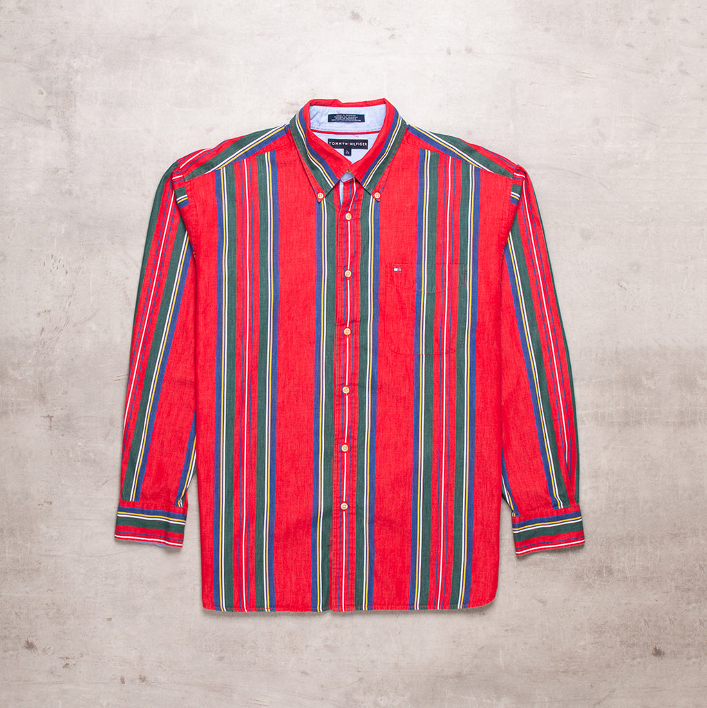 00s Tommy Hilfiger Striped Shirt (L)