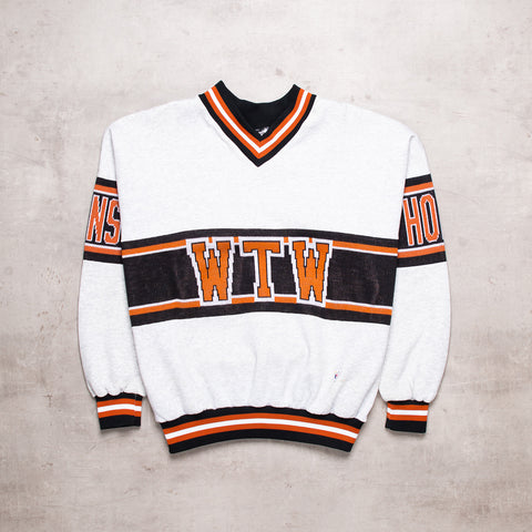 90s Contrast Varsity Sweater Polo (L)