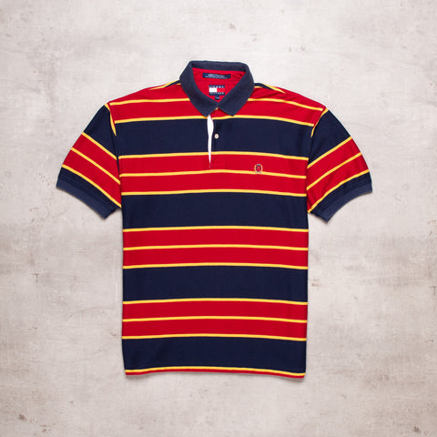 90s Tommy Hilfiger Striped Polo (M)