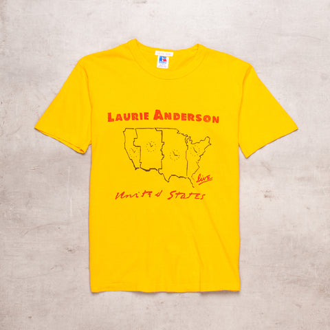 90s Laurie Anderson Mustard Tour Tee (XS)