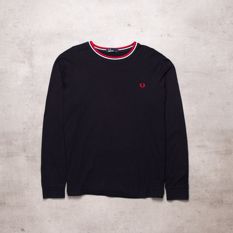 Vintage Fred Perry Embroidered Long Sleeve (L)