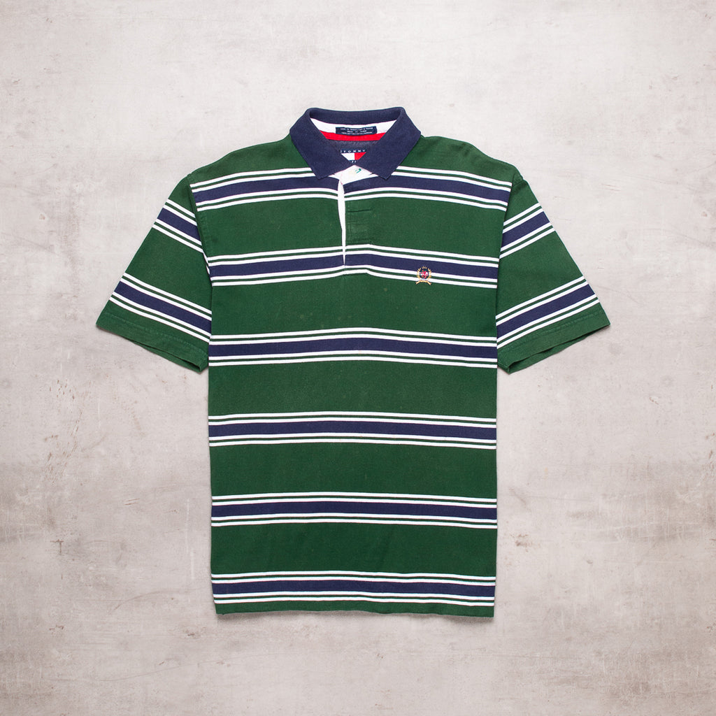 90s Tommy Hilfiger Striped Polo (S)