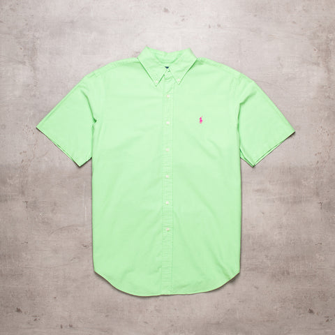 90s Ralph Lauren Green Short Sleeve Shirt (L)