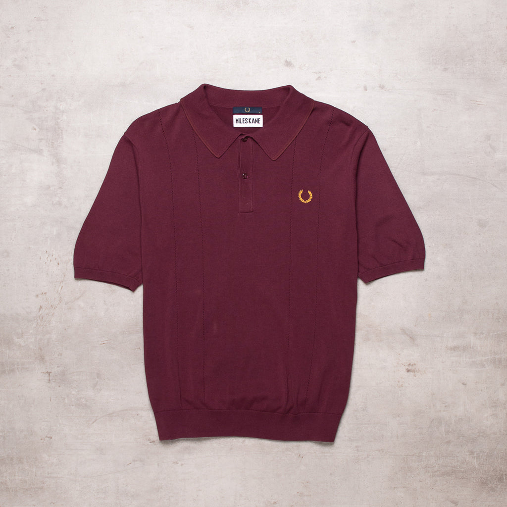 FRESH Fred Perry x Miles Kane Burgundy Polo (M)