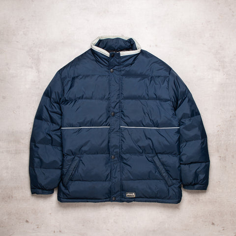 Vintage Navy Puffer Jacket (XL)