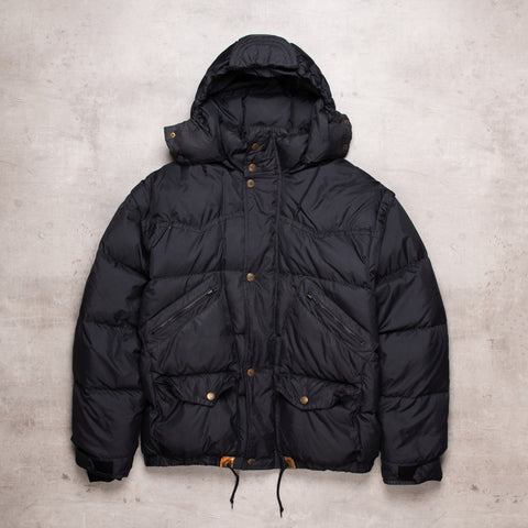 Vintage Black Out Puffer Jacket (XL)