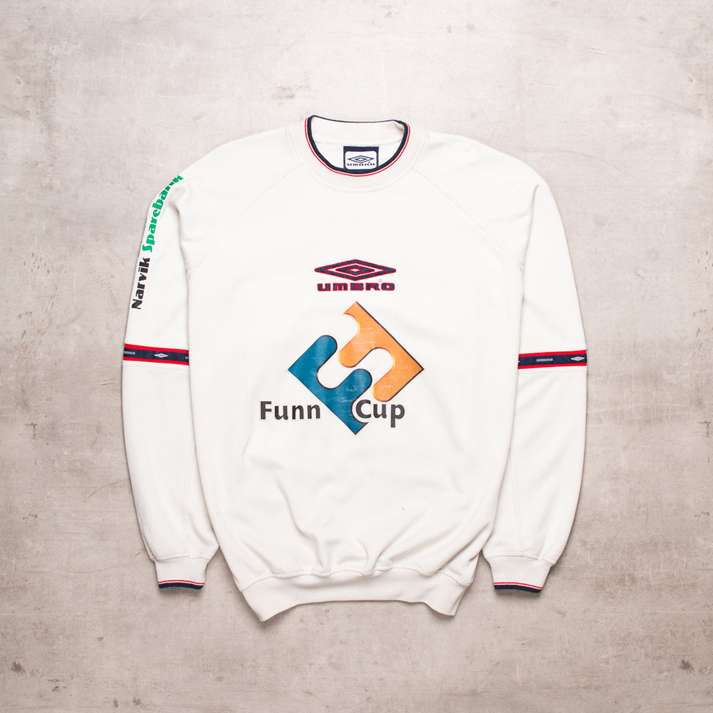 90s Umbro Cream Spell Out Sweat (M/L)
