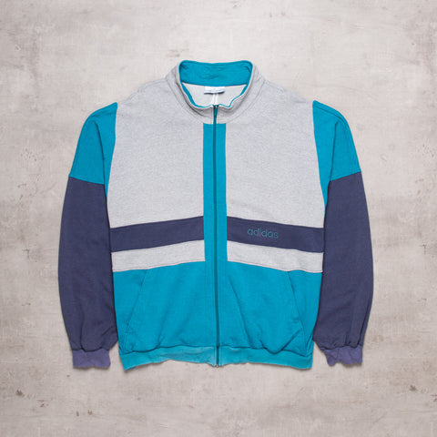 90s Adidas Colour Block Fleece Track (XL)