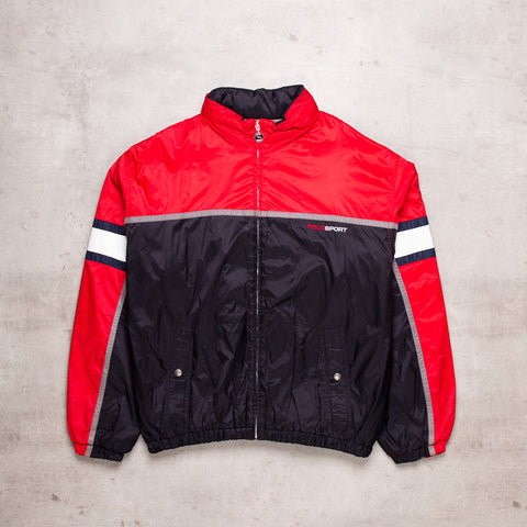 90s Polo Sport Colour Block Puffer Jacket (L)