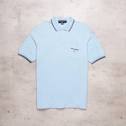 90s Polo Sport Powder Blue Polo (M)