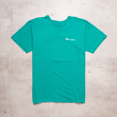 90s Champion Dark Mint Tee (L)