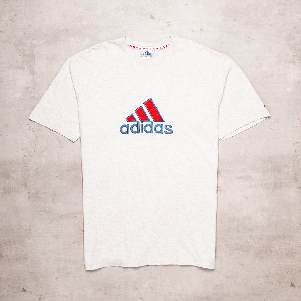 90s Adidas Embroidered Spell Out Tee (XL)