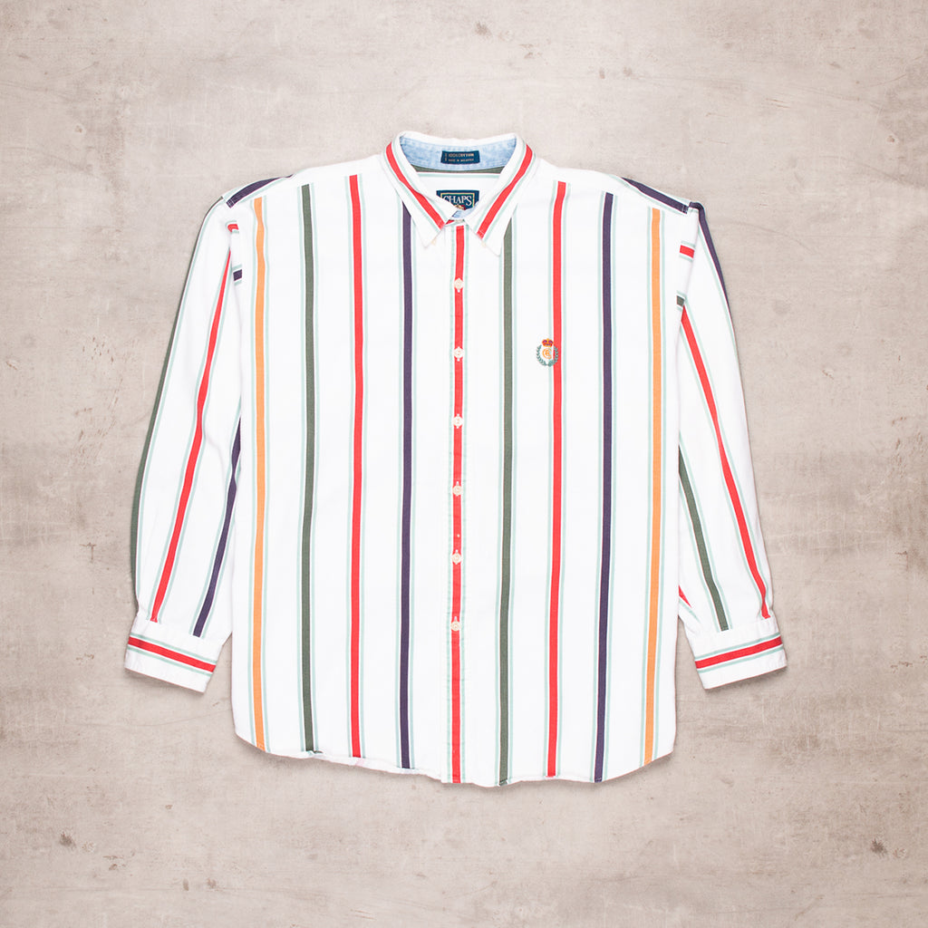 90s Ralph Lauren Striped Shirt (XL)