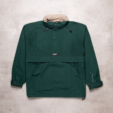 90s Ralph Lauren Green Pull Over (XXL)