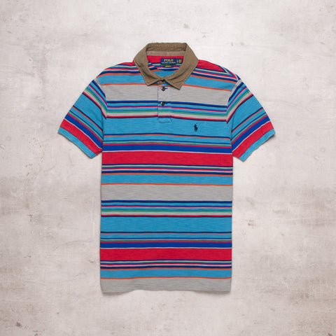 Modern Ralph Lauren Striped Polo (M)