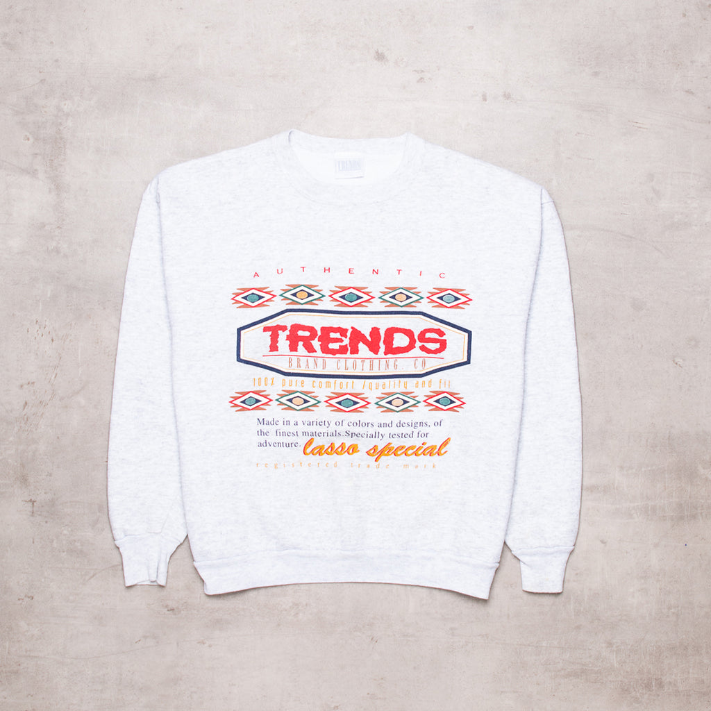 90s Trends Aztec Spell Out Sweat (S)
